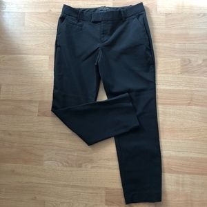 Banana Republic Black Cropped Martin Fit Trousers